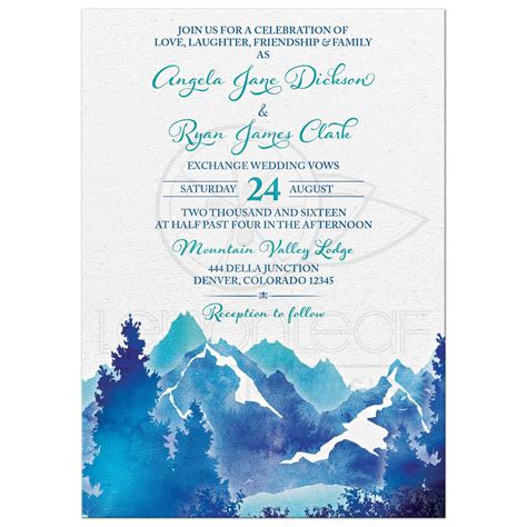 Royal Blue Wedding Invitation Cards