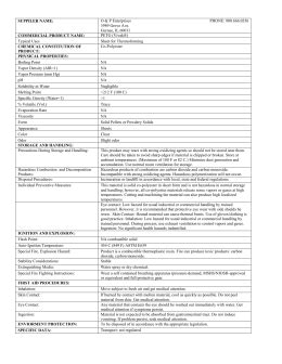 Material Safety Data Sheet Dry Ice NSN: 685000F002383 Part
