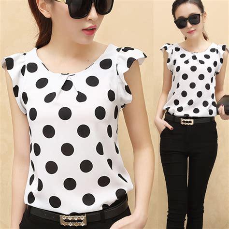 Best Seller Promo Black Adventure Liverpool Jaket Bola Ja blouse 2015 summer polka dots tops casual chiffon feminine blouses
