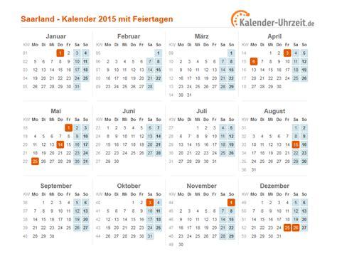 Kalender Mit Kw Und Feiertagen Feiertage 2015 Saarland Kalender