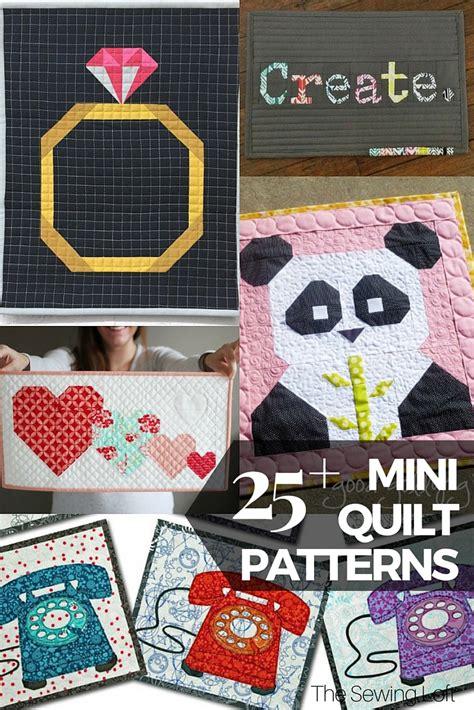 the pattern sourcebook mini 25 free mini quilt patterns the sewing loft