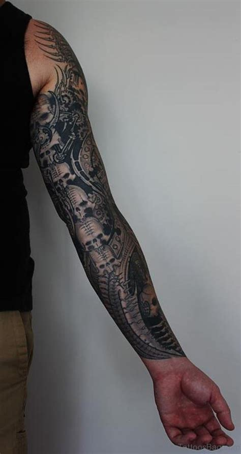 skull full sleeve tattoo designs 67 classic skull tattoos for sleeve