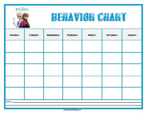 printable reward charts for good behavior free printable frozen behavior chart to motivate kids good