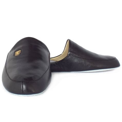 s leather slippers relax slippers williams s luxury black leather