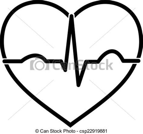 imagenes en blanco y negro de corazones vector de ecg coraz 243 n negro blanco m 237 nimo icono