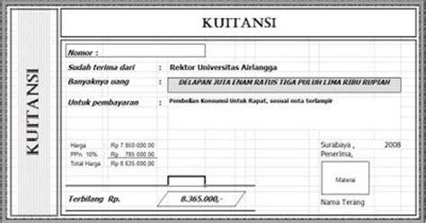 Contoh Kuitansi by Alinea S Kuitansi Receipt