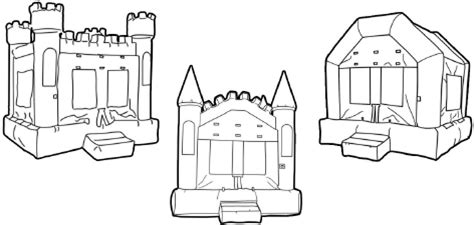 pics for > bounce house clip art black and white