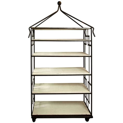 Wrought Iron Etagere wrought iron etagere by ryman at 1stdibs