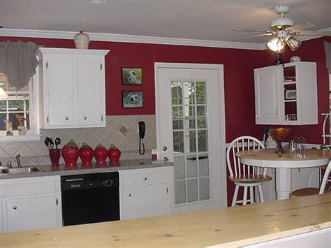red kitchen with white cabinets white kitchen cabinets red walls quicua com