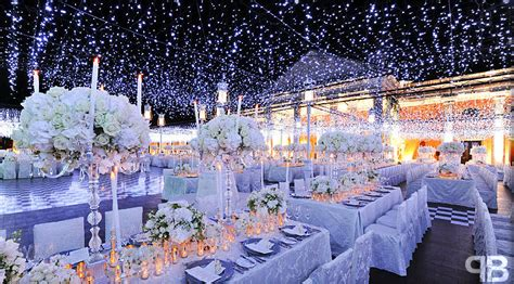 Wedding Reception Ceiling Decor: Winter Wonderland Theme
