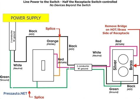 switched receptacle and outlet wiring diagram wiring
