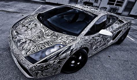 Sharpie Lamborghini Lamborghini Gallardo Car With Sharpie Sketch Vinyl
