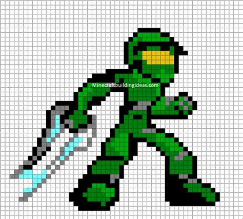 minecraft pixel art templates master chief