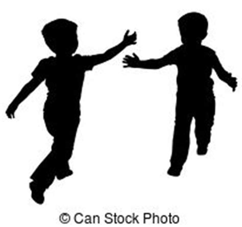 kids play vector silhouettes stock photos and images
