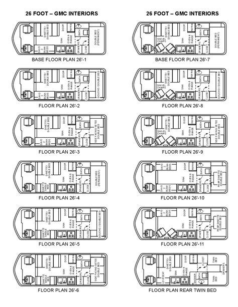gmc motorhome floor plans floorplans gmc motorhomes 26 by uscer eu issuu