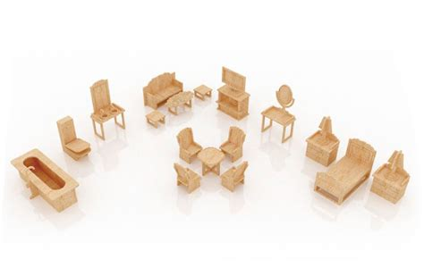 dollhouse furniture set  furniture makecnccom