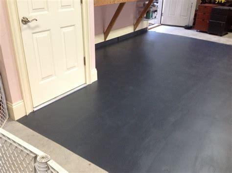 Garage floor done in Annie Sloan Graphite  .the baby