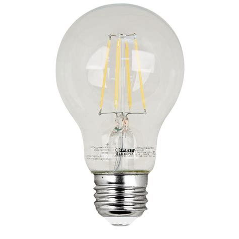 Feit Electric 60w Equivalent Soft White A19 Clear Filament 60 W Led Light Bulbs