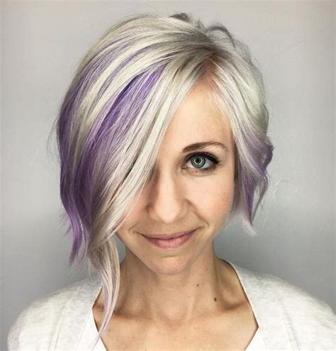 foil placement for purple bangs best 25 purple peekaboo hair ideas on pinterest purple