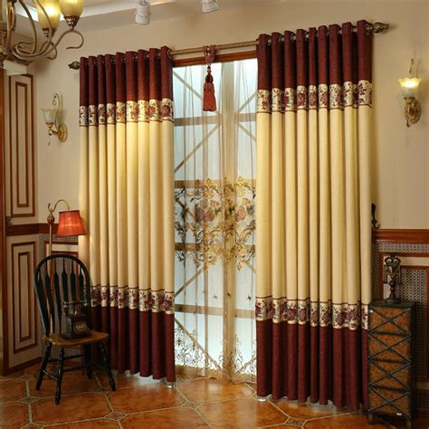 window curtain design cotton and linen materials luxury window curtains designs