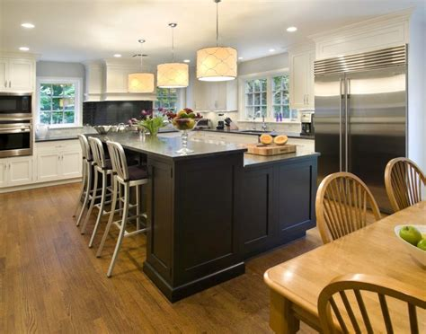 kitchen island designs with seating different shaped kitchen island designs with seating and