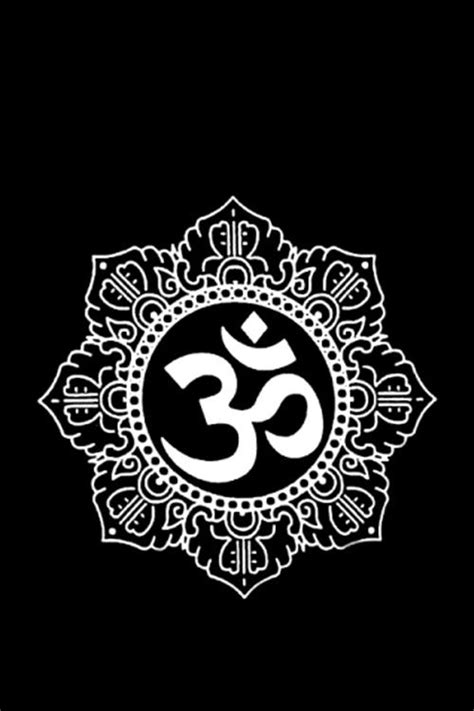 black and white om wallpaper namaste om symbol wallpaper new age pinterest