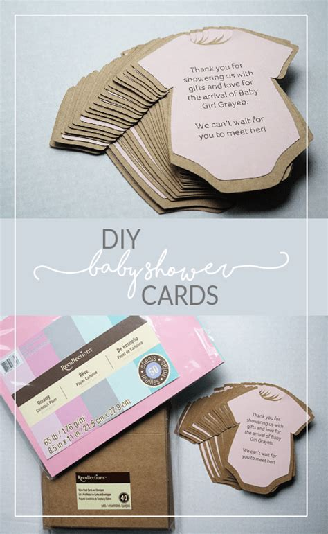Baby Shower Invites Diy by Diy Baby Shower Invitations Or Thank You Cards