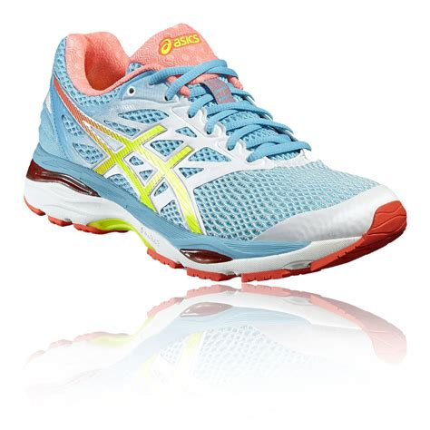 best cushioned running shoes womens asics gel cumulus 18 womens yellow blue cushioned running