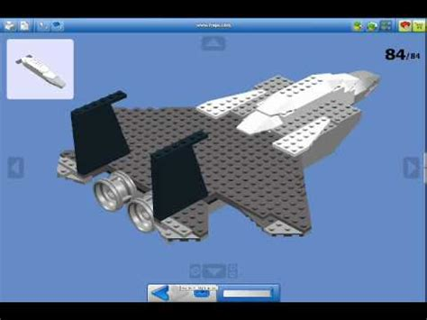lego jet tutorial lego creation how to make a lego jet fighter f15 youtube