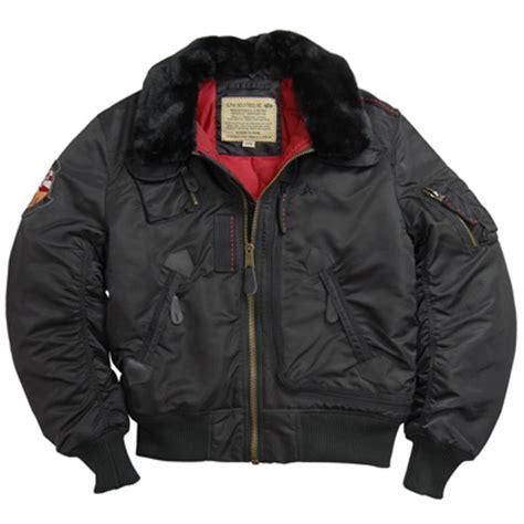 Jaket Bomber Pilot Canvas Marsmello alpha b 15 injector flight jacket black