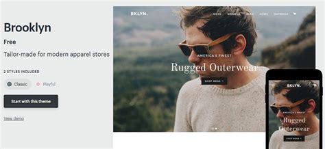 shopify themes brooklyn choosing a shopify theme media mike ecommerce specialist