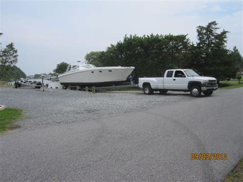 towing 30 foot boat towing 42 x 11 x 20 000lb boat with 8 1 gas chevy the