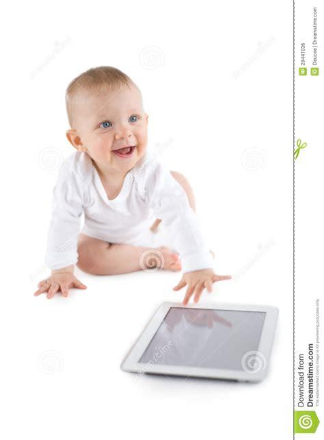 baby photo ideas royalty free digital stock photos for baby using digital tablet royalty free stock image image