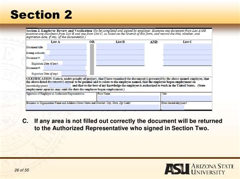 i 9 section 2 authorization to complete i 9 forms