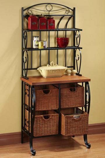 iron wicker bakers rack home pantry kitchen furniture 34 best images about home inspiration ratatouille