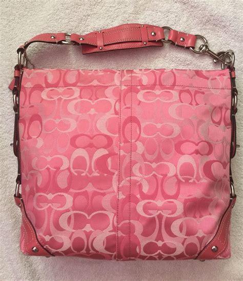 pretty in pink large coach optic signature handbag coach 13981 ebay