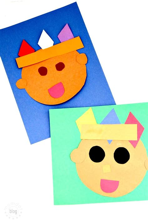 American Paper Crafts - american paper craft practice shapes momdot