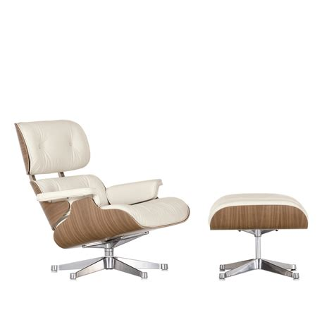 Vitra Eames Lounge Chair Ottoman Walnut White Vitra Eames Lounge Chair And Ottoman