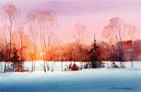 watercolor tutorial winter 17 best images about watercolor painting ideas and