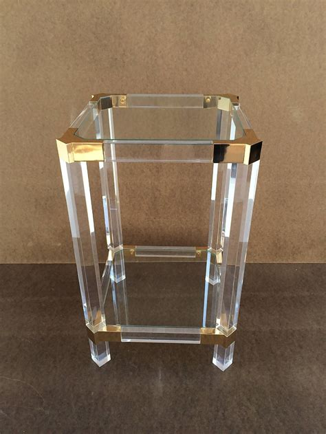 acrylic side table acrylic and glass side table by charles hollis jones at 1stdibs