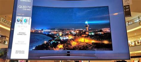 Samsung Qled 65 Review Samsung Qled Q8c 4k Hdr Tv Samsung S Curvy 65 Inch Qled Struts Its Stuff