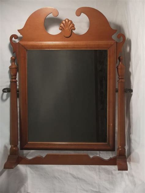 dresser top mirror vintage american shaving grooming cherry dresser top mirror