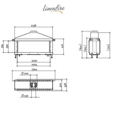 lineafire fireplaces horizontal 100 tunnel