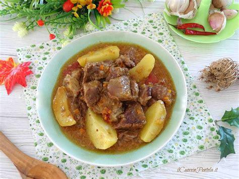 cucinare spezzatino di manzo spezzatino con le patate ricetta spezzatino il cuore in