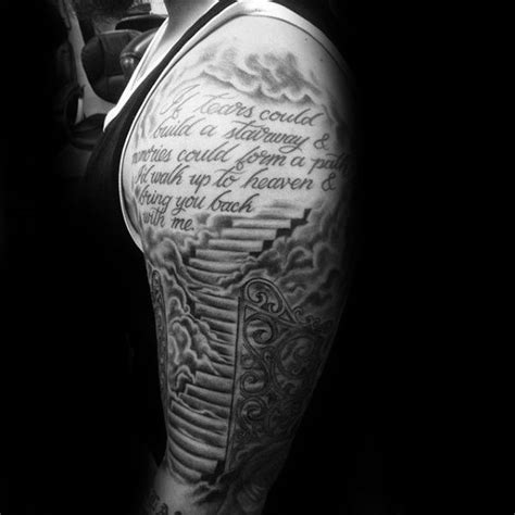 three quarter sleeve tattoo cost best 25 heaven tattoos ideas on pinterest stairway to