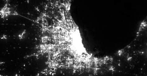 chicago light map in the sky exploring global light pollution with