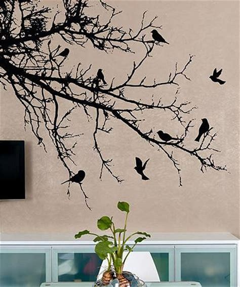 wall decals trees and birds vinyl wall decal sticker birds tree branch 1002
