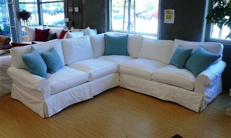 slipcover for sectional denim slipcover sectional sofa
