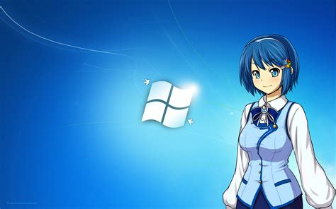 anime computer themes windows 7 anime girl wallpaper windows 10 wallpapersafari