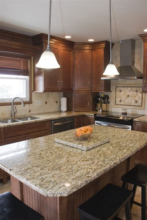 light colored granite kitchen countertops maple nutmeg cabinets with granite tops and light colored